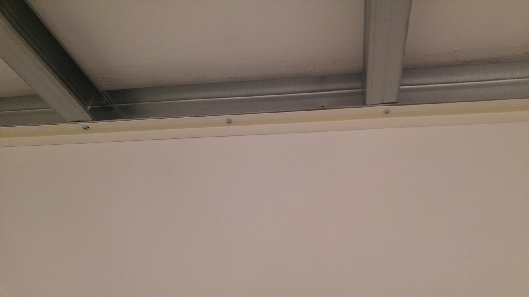 Pose rail placo plafond - Latte pvc pour plafond ...
